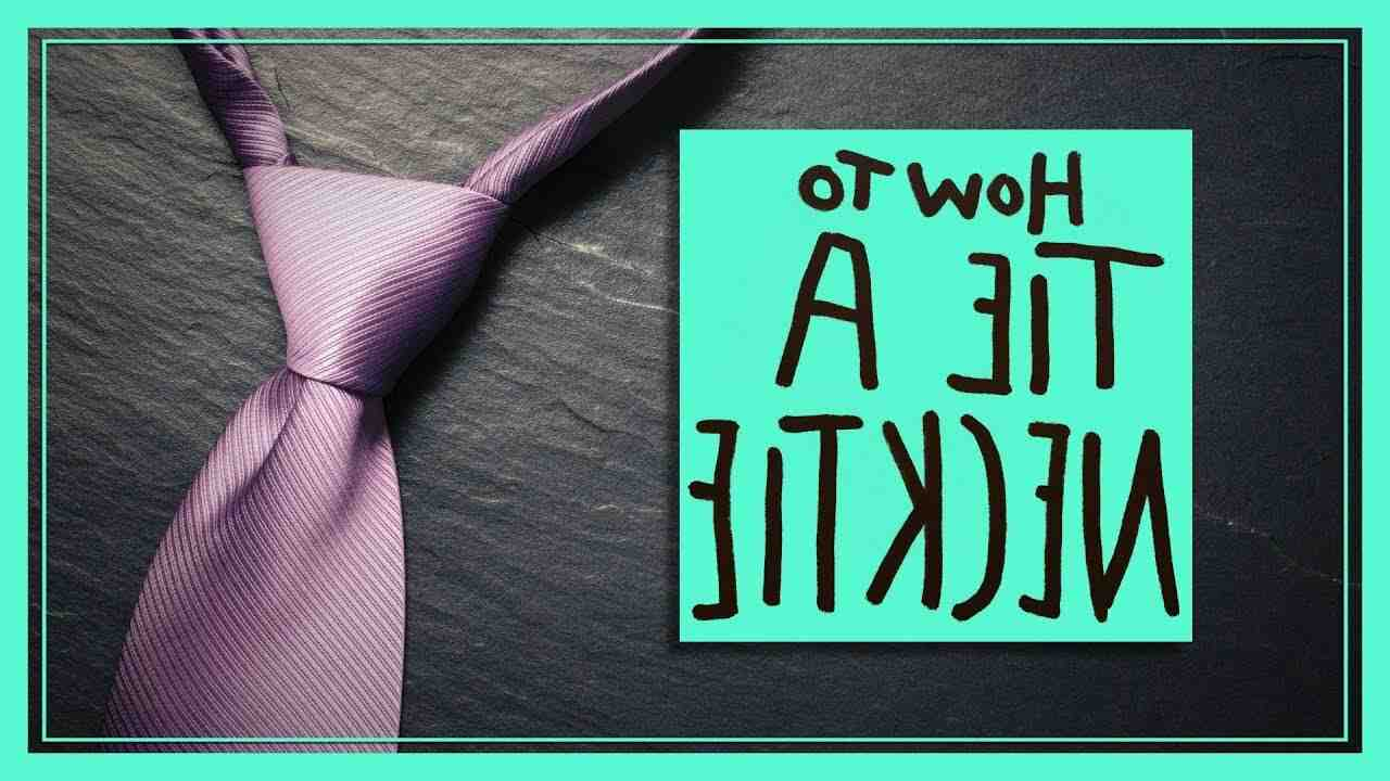 How do you knot a tie in a simple way?